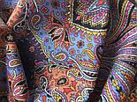Тальянка 1750-19, павлопосадский платок (на голову, шейный) хлопковый (батистовый) с подрубкой, фото 7