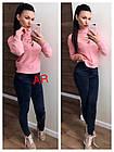 Женский свитерок со шнуровкой