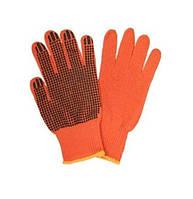 Перчатки Werk WE2105H (х/б с резиновым вкраплением, оранжевые)