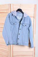 Куртка женская джинсовая с капюшоном