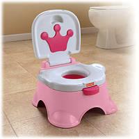Музыкальный горшок 3 в 1Fisher-Price Pink Princess Stepstool Potty
