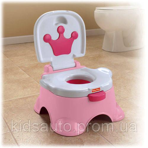 Музыкальный горшок 3 в 1Fisher-Price Pink Princess Stepstool Potty - KidsAuto в Харькове