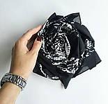 10736-18, павлопосадский платок (на голову, шейный) хлопковый (батист) с подрубкой, фото 7
