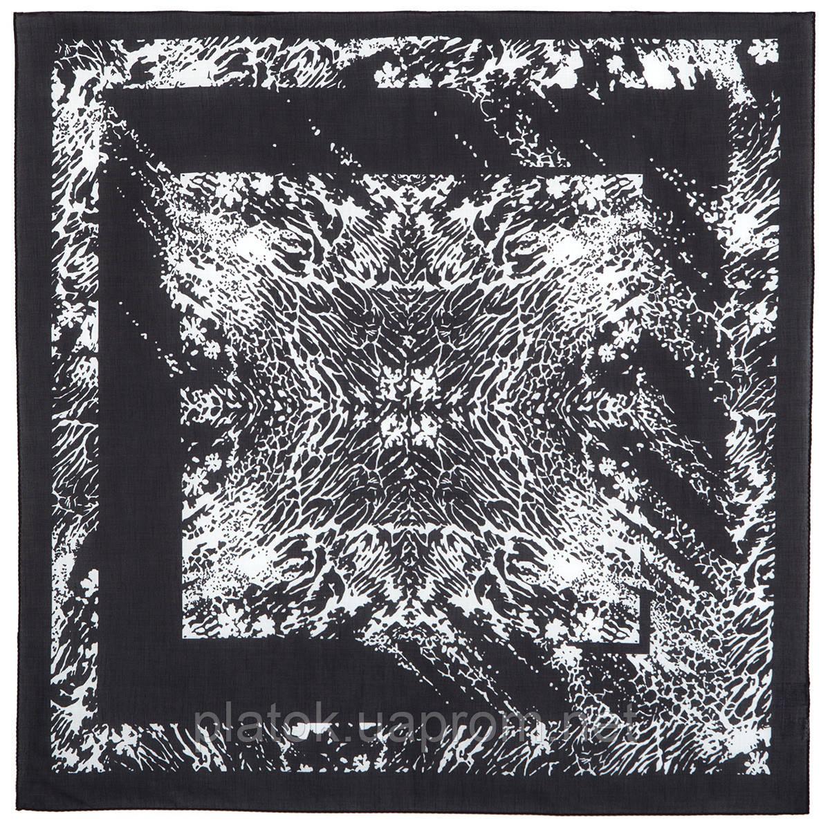 10736-18, павлопосадский платок (на голову, шейный) хлопковый (батист) с подрубкой