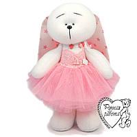 Зайчик, заєць М'яка іграшка, подарунок дівчинці, Зайчик у рожевій пачці ручна робота, фото 1