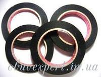 Бета-бант 0,5 см (черный) 25 м  Лента долевая самоклеющаяся для изделий из кожи