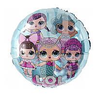 Фольгированный шарик Lol голубой, 45*45 см