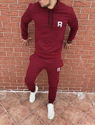 Осенний спортивный костюм Reebok bordo топ реплика