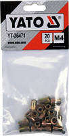 Заклепка резьбовая сталь М4х11мм YATO, 20шт