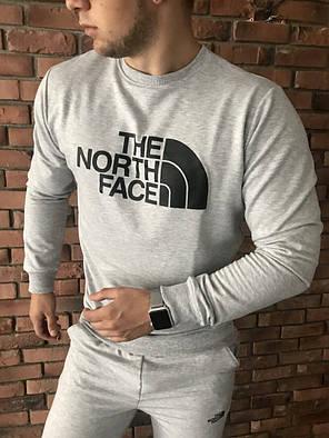 Осенний спортивный костюм The North Face grey топ реплика, фото 2