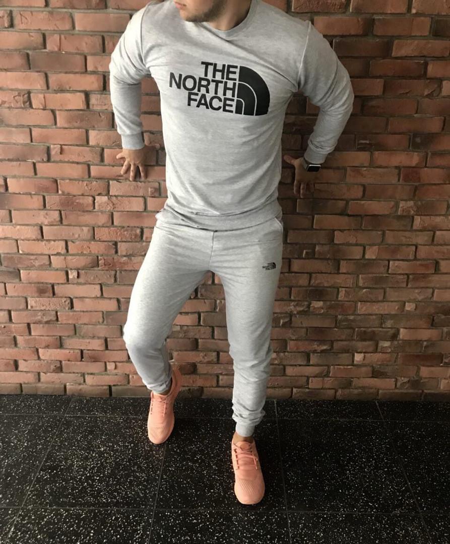 Осенний спортивный костюм The North Face grey топ реплика