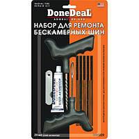 Полный набор с резаком DoneDeal для ремонта бескамерных шин 20 мл.