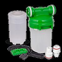 """СВОД Корпус магистрального фильтра 5"""" для холодной воды с картриджем под засыпку (Smart - подключение)"""