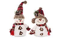 Мягкая новогодняя игрушка Снеговик, 25см, 2 вида,  в упаковке 1шт. (778-243)