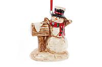 Подвесной декор Снеговик с почтовым ящиком 9см 827-435