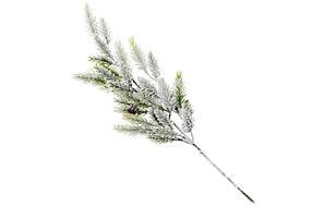 Ветка елки декоративная заснеженная, 52см, в упаковке 24 шт 122-105