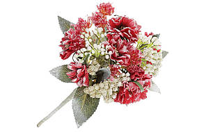 Декоративный искусственный цветок Гортензия, 24 см, цвет - красный, в упаковке 36 шт. 832-134