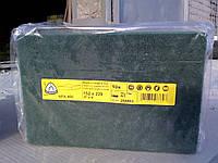 Нетканный абразивный материал скотчбрайт NPA400 Klingspor (152х229мм)HDUTY, medium, оливковий, AL2O3, p150-180