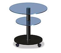 Стол журнальный стеклянный круглый Commus Bravo Light425 K blu-venge-bl50