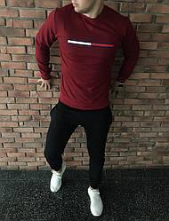Осенний спортивный костюм bordo/black топ реплика