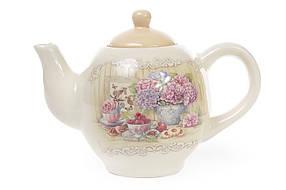 Чайник керамический 1050мл Гортензия 844-710