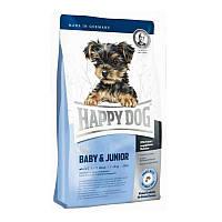"""Сухий корм """"Happy Dog Supreme Young Line Mini Baby&Junior"""" 29/16 (для цуценят дрібних порід з 4х тижнів) 300 гр"""