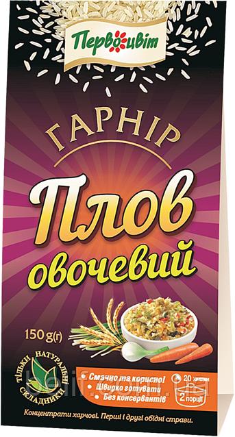 """Гарнір """"Овочевий плов"""" 150гр/20 ТМ """"Первоцвіт"""""""