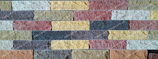 Фасадная плитка под кирпич скала, колотая LAND BRICK 250х20х65 мм