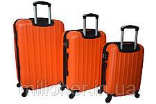 Чемодан Siker Line набор 3 штуки оранжевый, фото 2
