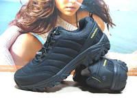 Мужcкие кроссовки Merrell Ice Cap Moc (реплика) черно-желтые 46 р., фото 1