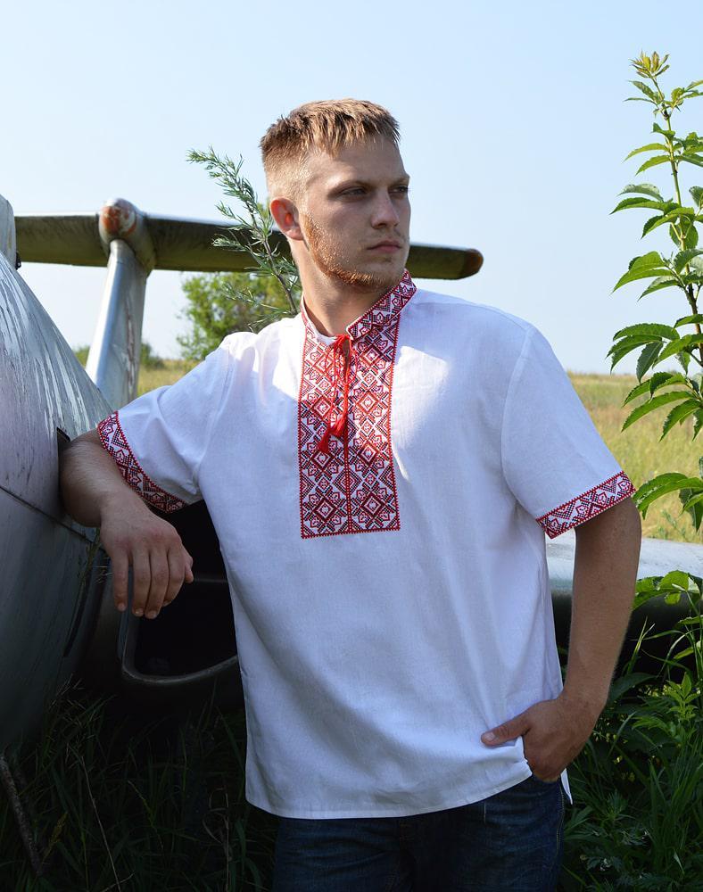 Вишиванка чоловіча літня лляна розміри в наявності  продажа 039c5e0de63ae