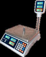 Весы  торговые со стойкой  ВТД-Т2 ЖК - 6 кг.