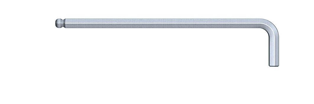 """Штіфтовий ключ шестигранний зі сферичною головкою довгий хромований SW 1/16""""(1,59) verchromt"""