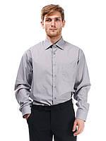 Мужская рубашка классического силуэта серого цвета