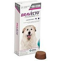 Бравекто 1400 мг 1 таблетка для собак 40-56кг (блохи и клещи на 3мес) МСД Нидерланды.