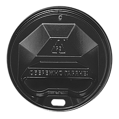 "Крышка ""Ромб"" 90 Черная 50шт/уп (1ящ/40уп/2000шт) (400/500стакан)"