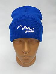 Шапка спортивная тренеровочна Mass зимняя синяя