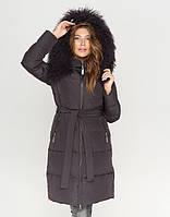 CLASNA | Зимняя женская куртка 085 графит