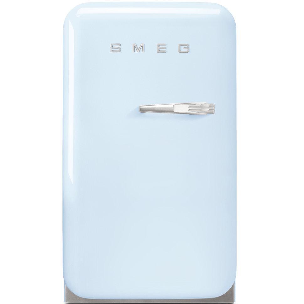 Отдельно стоящий однодверный холодильник, стиль 50-х годов Smeg FAB5LPB пастельный голубой