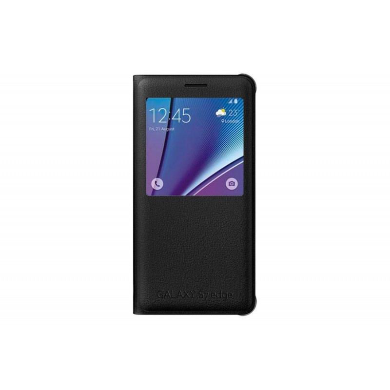 Чехол-книжка Samsung S View Cover для Samsung Galaxy S7 Edge \ black