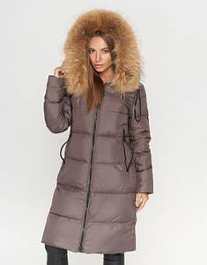 CLASNA | Женская зимняя куртка 706 коричневый
