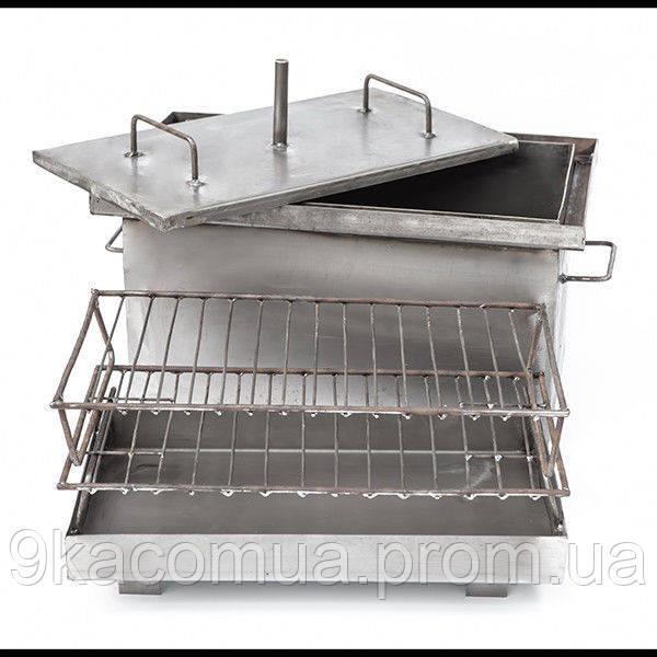 Коптильня горячего копчения большая не окрашена,1,7мм сталь,550*300*280 мм HousePro
