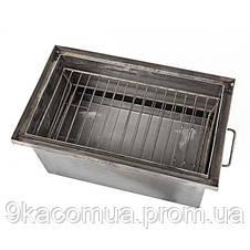 Коптильня горячего копчения большая не окрашена,1,7мм сталь,550*300*280 мм HousePro, фото 3