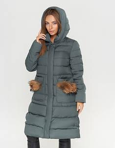 CLASNA | Теплая женская куртка 717 изумруд