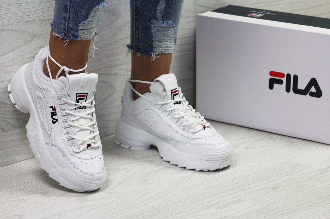6154bb442454 Стильные белые женские кроссовки Fila Disruptor 2 - Фила   кросівки жіночі  філа (Топ реплика