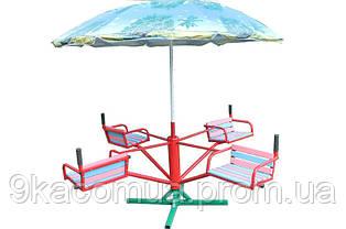 Карусель детская с зонтиком, 4-местная
