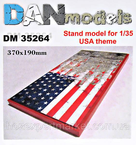 Подставка для моделей. Тема: США (370x190 мм)