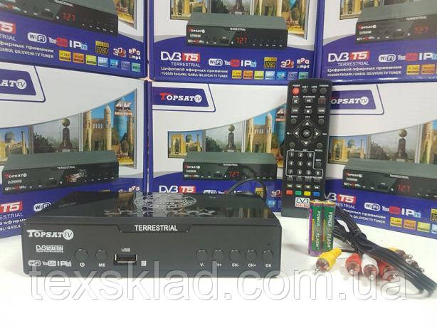 Цифровой эфирный тюнер T2  TopSat TV (Wi-Fi/FULL HD/You Tube)