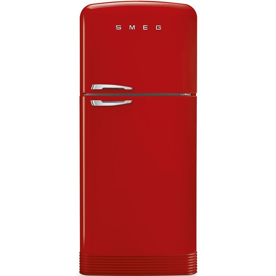 Отдельно стоящий двухдверный холодильник, стиль 50-х годов Smeg FAB50RRD красный