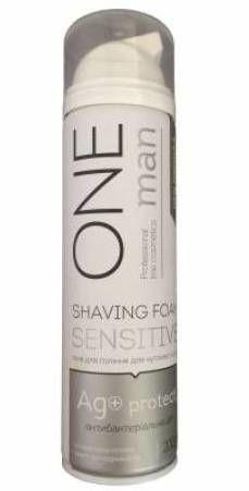 ONEMAN Піна для гоління чутливої шкіри з iонами Ag+ 200мл.